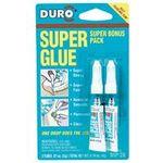 OKI Preferred Brands 324671 Duro 324671 0.07 Oz. Liquid Super Glue (2-Pack), 30 Second Set Time