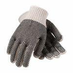 PIP® 36-112PDD/L PIP® 36-112PDD Regular Weight Coated Gloves, L, PVC Palm, Natural/Black, Seamless