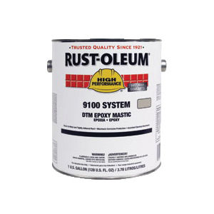 Rust-Oleum® 9100 System 2-Component DTM Epoxy Mastic Base, 1 gal Can, Tint  Base, Light