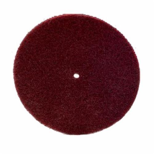 Scotch-Brite™ LD-DC Light Deburring Disc, 8 in Dia, 1/2 in, Very Fine Grade, Aluminum Oxide Abrasive, Regular Attachment