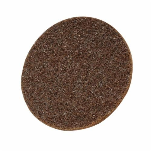 Scotch-Brite™ Hookit™ SC-DH Surface Conditioning Disc, 5 in Dia, No Hole, Coarse Grade, Aluminum Oxide Abrasive