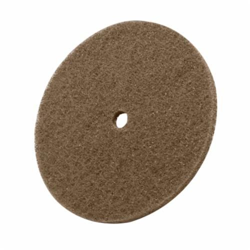 Scotch-Brite™ CP-DC Cut and Polish Disc, 6 in Dia, 1/4 in, Medium Grade, Aluminum Oxide Abrasive, Regular Attachment
