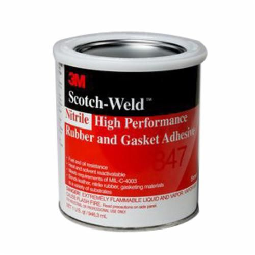 Scotch-Weld™ 847 High Performance Rubber and Gasket Adhesive, 1 gal Can, Liquid, Dark Brown, 0.91