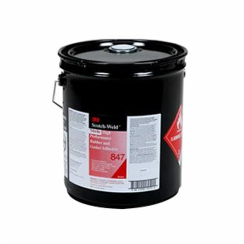 Scotch-Weld™ 847 High Performance Rubber and Gasket Adhesive, 5 gal Pail, Liquid, Brown, 0.91