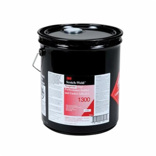 Scotch-Weld™ 1300 High Performance Low Viscosity Rubber and Gasket Adhesive, 5 gal Pail, Liquid, Yellow, 0.88
