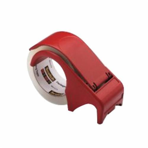Scotch® DP300-RD Hand Held Tape Dispenser, Red, Plastic