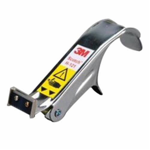 Scotch® H-121 Hand Held Tape Dispenser, 2-3/4 in H x 1-5/8 in W x 7 in D, Gray, Metal