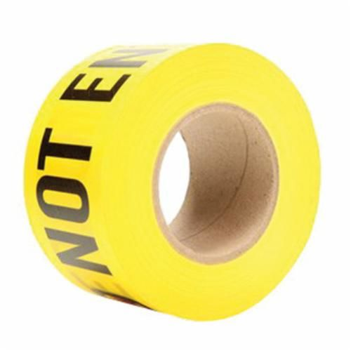 Scotch® 361 Above Ground Barricade Tape, CAUTION DO NOT ENTER, 1000 ft Roll L x 3 in W, Yellow, Polyethylene Film