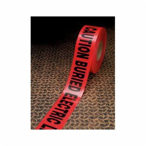 Scotch® 368 Buried Barricade Tape, CAUTION BURIED ELECTRIC LINE BELOW, 1000 ft Roll L x 6 in W, Red