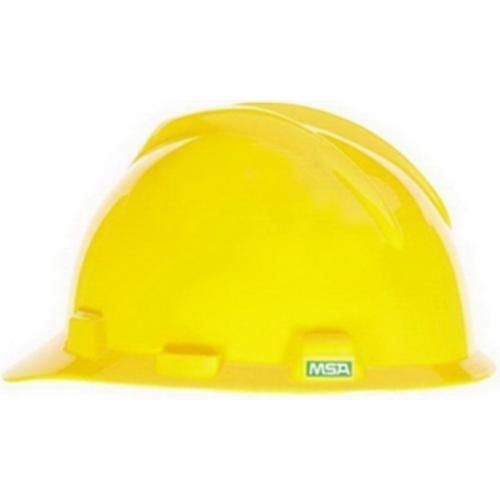 Super-V™ C217093 Cap Style Hard Hat, Yellow, Fas-Trac® Ratchet Suspension, Polyethylene, Class E