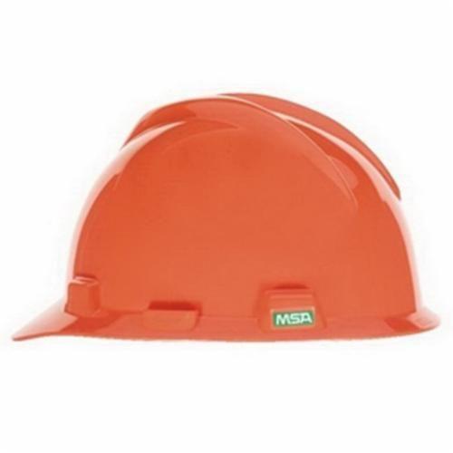 Super-V™ C217094 Cap Style Hard Hat, Orange, Fas-Trac® Ratchet Suspension, Polyethylene, Class E