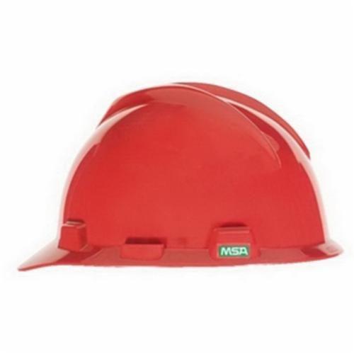 Super-V™ C217095 Cap Style Hard Hat, Red, Fas-Trac® Ratchet Suspension, Polyethylene, Class E