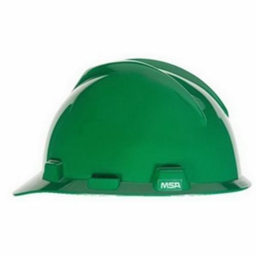 Super-V™ C217096 Cap Style Hard Hat, Green, Fas-Trac® Ratchet Suspension, Polyethylene, Class E