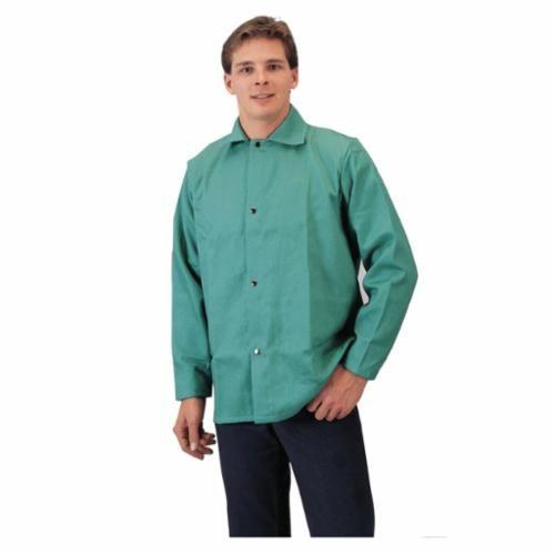 Tillman™ 6230-6XL Flame Resistant Jacket, 6XL, 30 in L, Green, Cotton/Proban FR7A/Westex