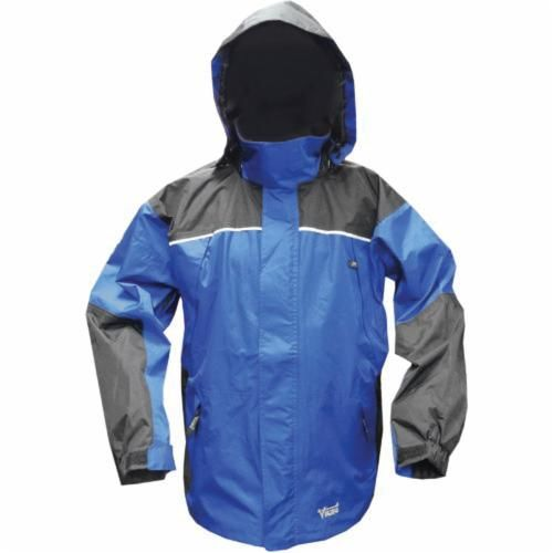 Viking® 838CB-L Jacket, L, Blue/Charcoal, Hi Tech Polyester/PVC Shell