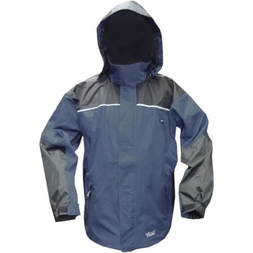 Viking® 838CN-L Jacket, L, Navy/Charcoal, Hi Tech Polyester/PVC Shell