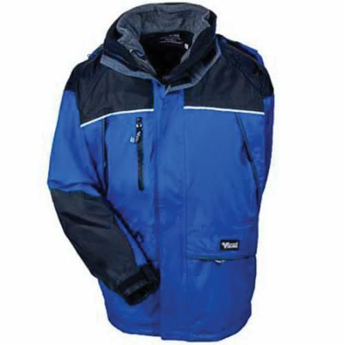 Viking® 848BB-L Reflective Tri-Zone Jacket, L, Men's, Blue/Black, PVC/Polyester