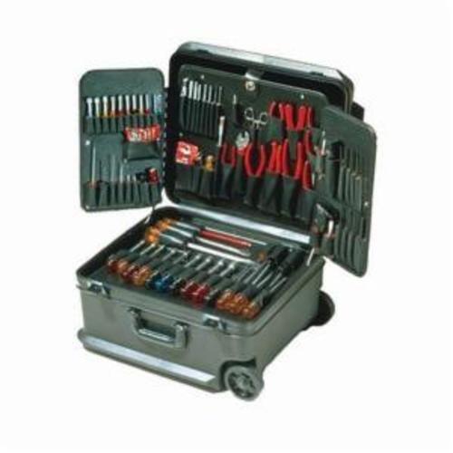 Xcelite® Series 99® TCMB100STW Attache Tool Case With Wheels, 86 Pieces, Polyethylene, Black