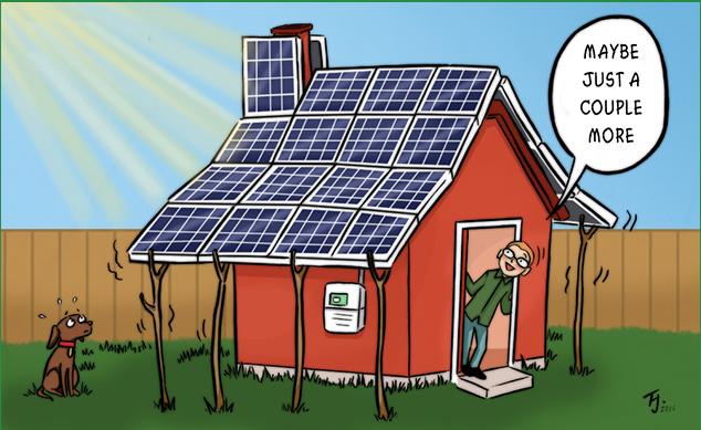Oversizing solar panel system makes sense