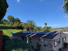 The Best Roof for Solar Panels - Light Obstructions. Solar panels installed in a shaded location.