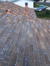 The Best Roof for Solar Panels - Condition & Age. Composite shingles show end of life and are in poor condition. This is a roof that should be replaced before installing solar panels.