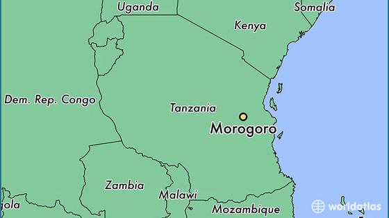 19476 morogoro locator map