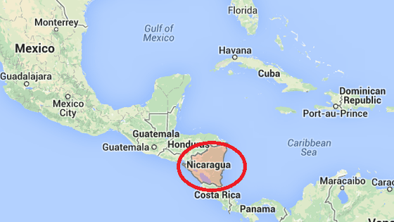 Nicaragua tefl class map square