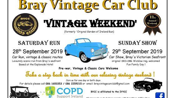 2019   bvcc s vintage weekend poster