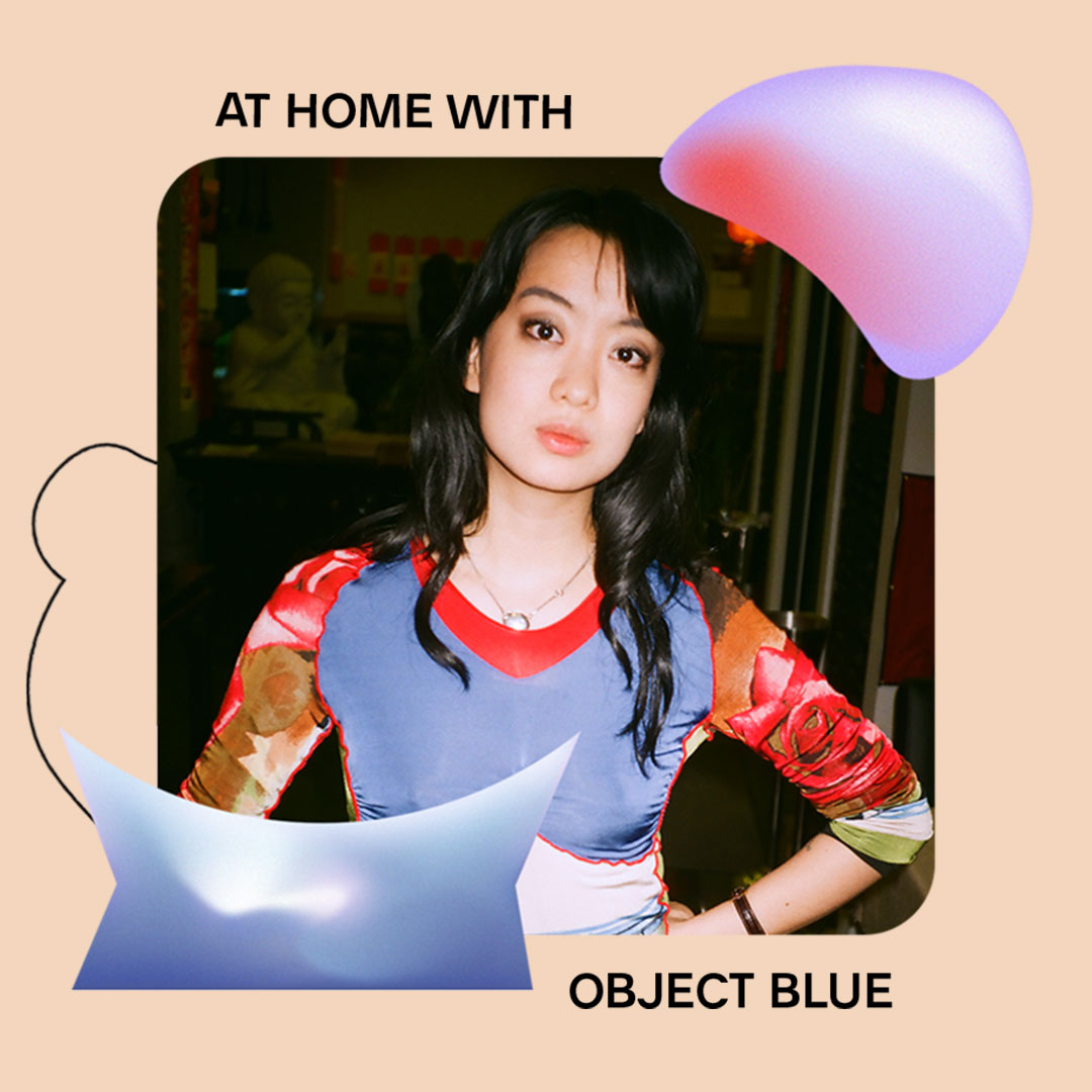 AT HOME WITH: OBJECT BLUE