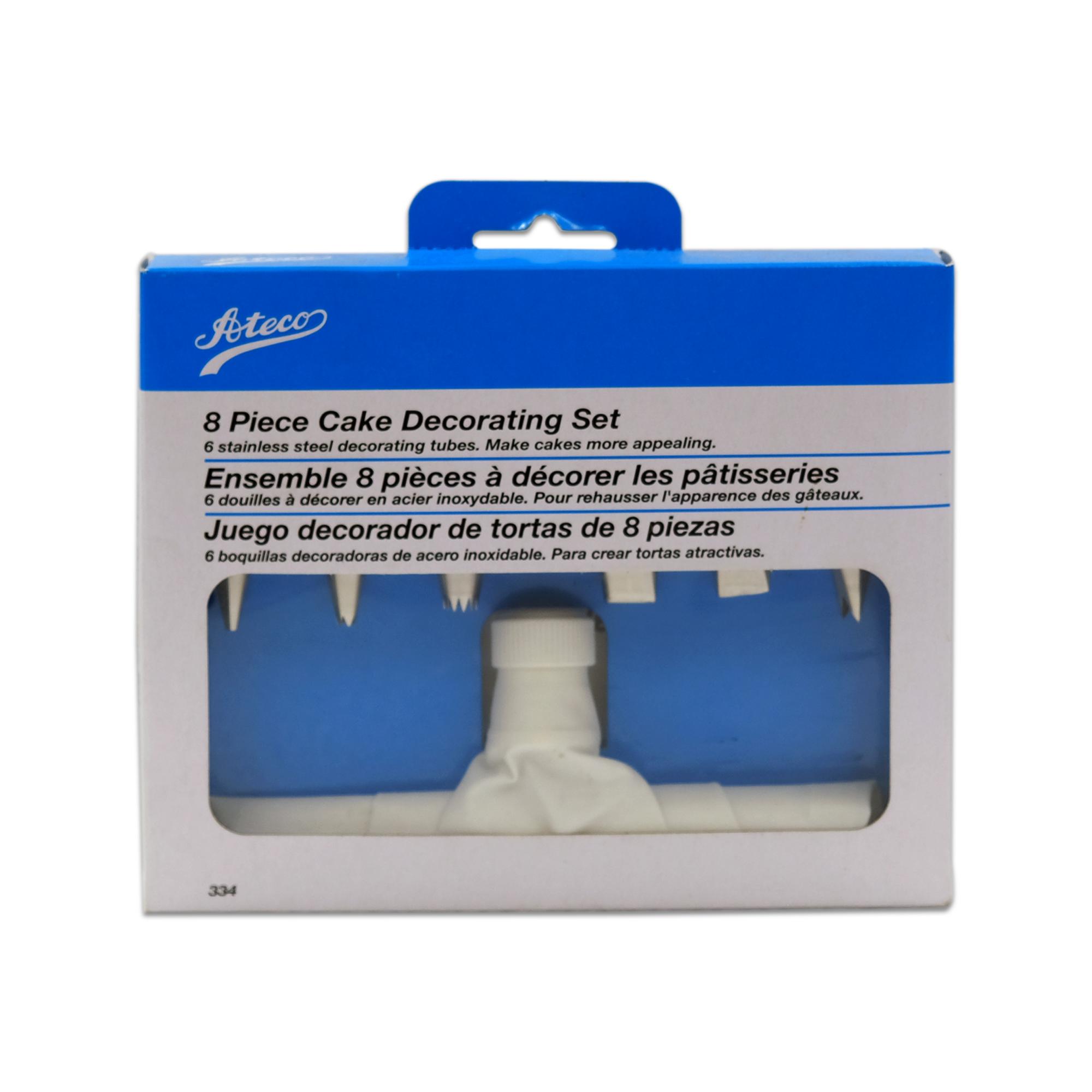 Ateco Cake Decorating Set Couplers and Decorating Tubes Decorating Bag