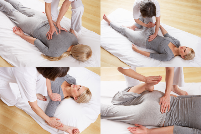 shiatsu massage image collage