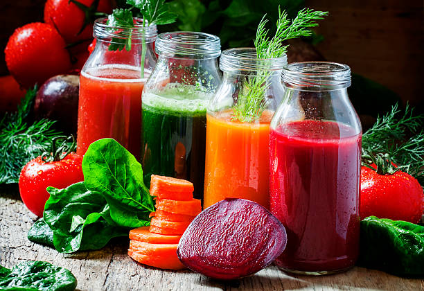 Juice-Cleanse-Four-Kinds-of-Vegetable-Juices