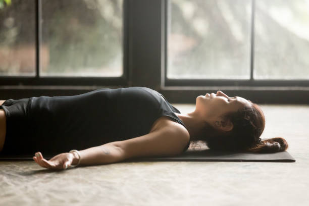 Yoga-Savasana pose