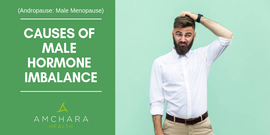 What causes male hormone imbalances?
