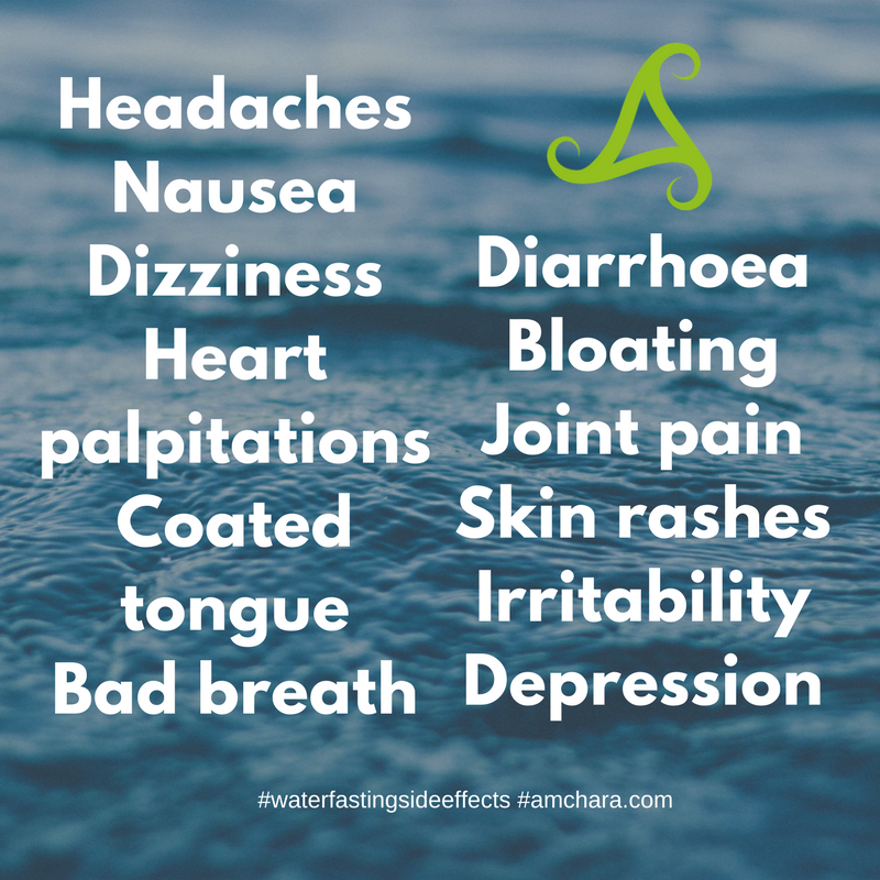 possible side effects with a water fast