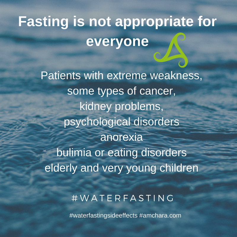 water fasting is not appropriate for everyone