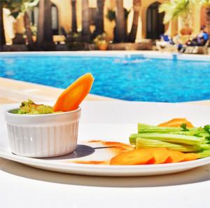 Healthy raw food ( by Amchara Gozo Pool)