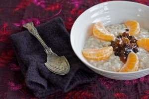 clementine and mincemeat christmas porridge