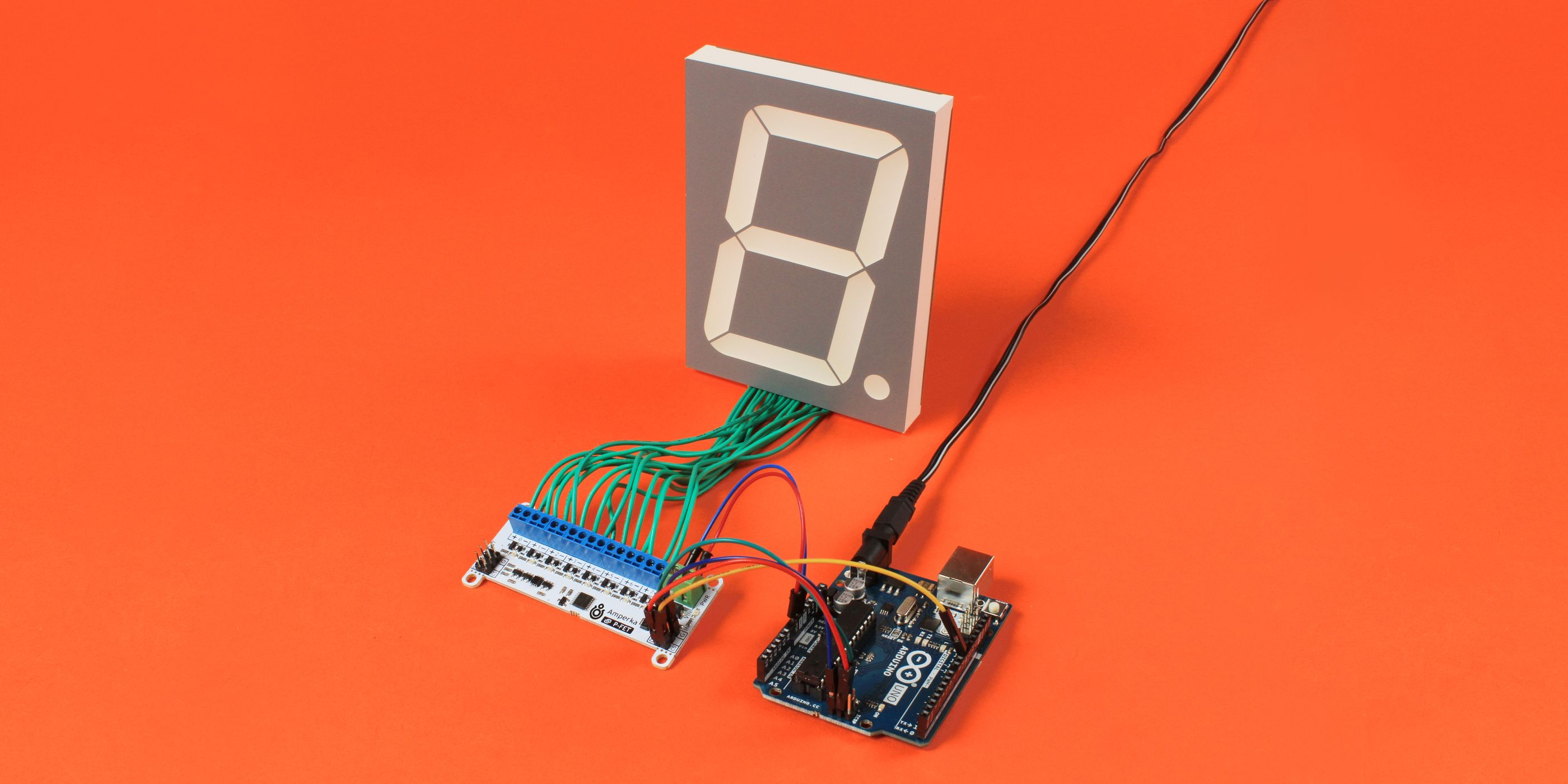 Octofet with 7-segment display photo