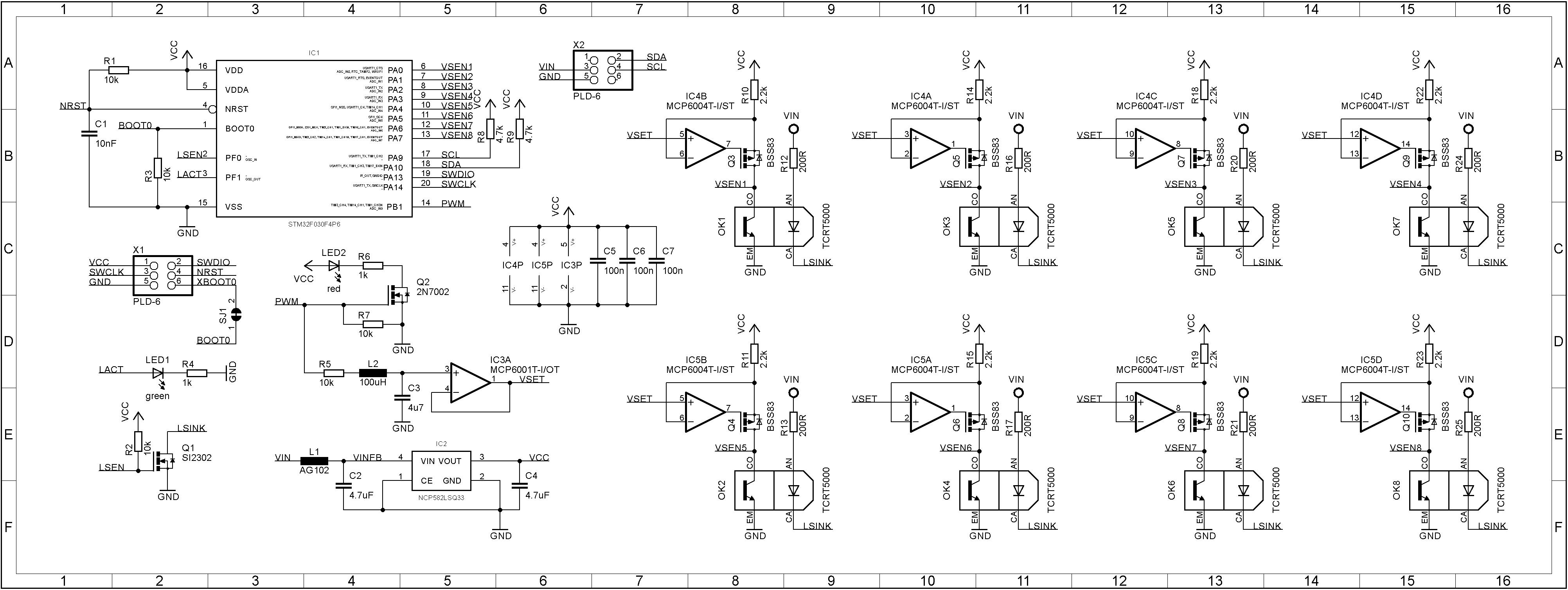 Octoliner board schematics