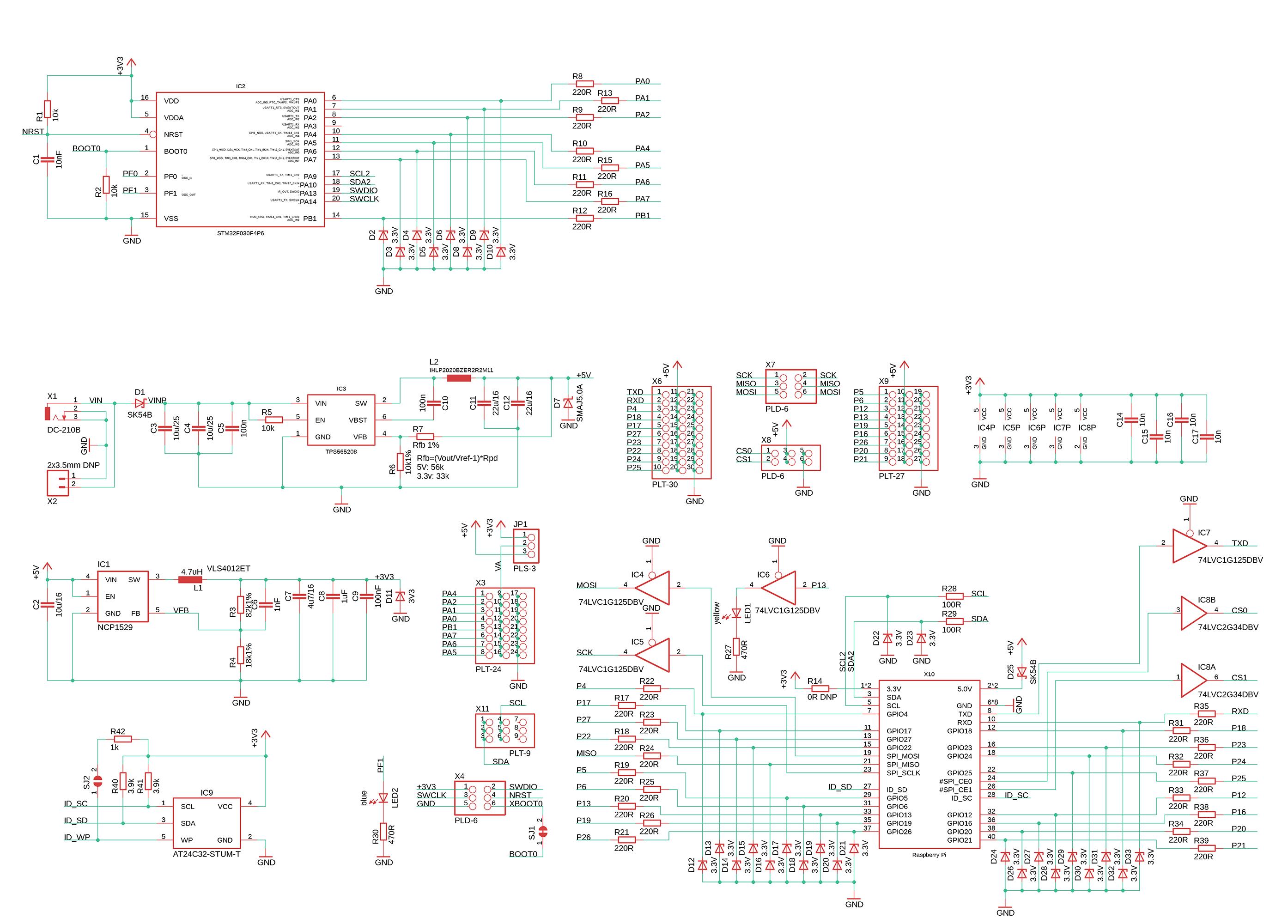 troyka-hat board schematics