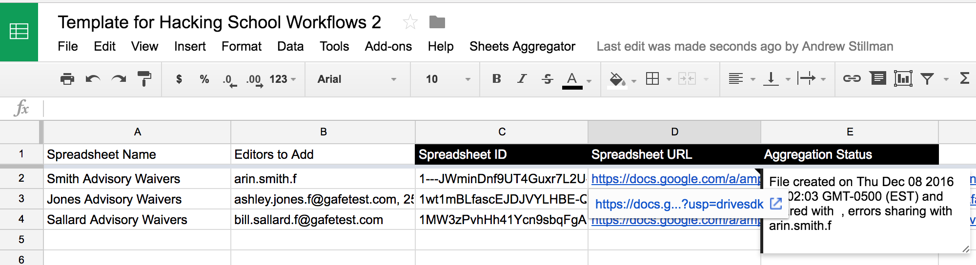 GSheetsUtils Tutorial: Writing and/or appending data to a sheet