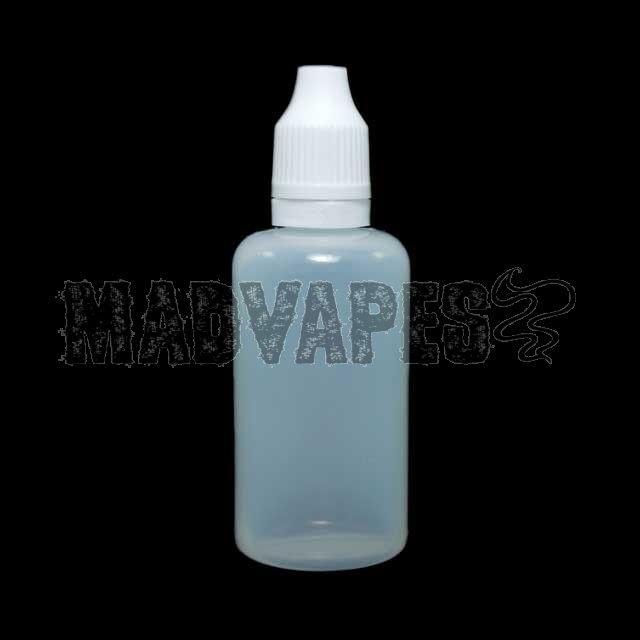 Empty Soft 50mL Bottle w/ Childproof Tamper Evident Cap