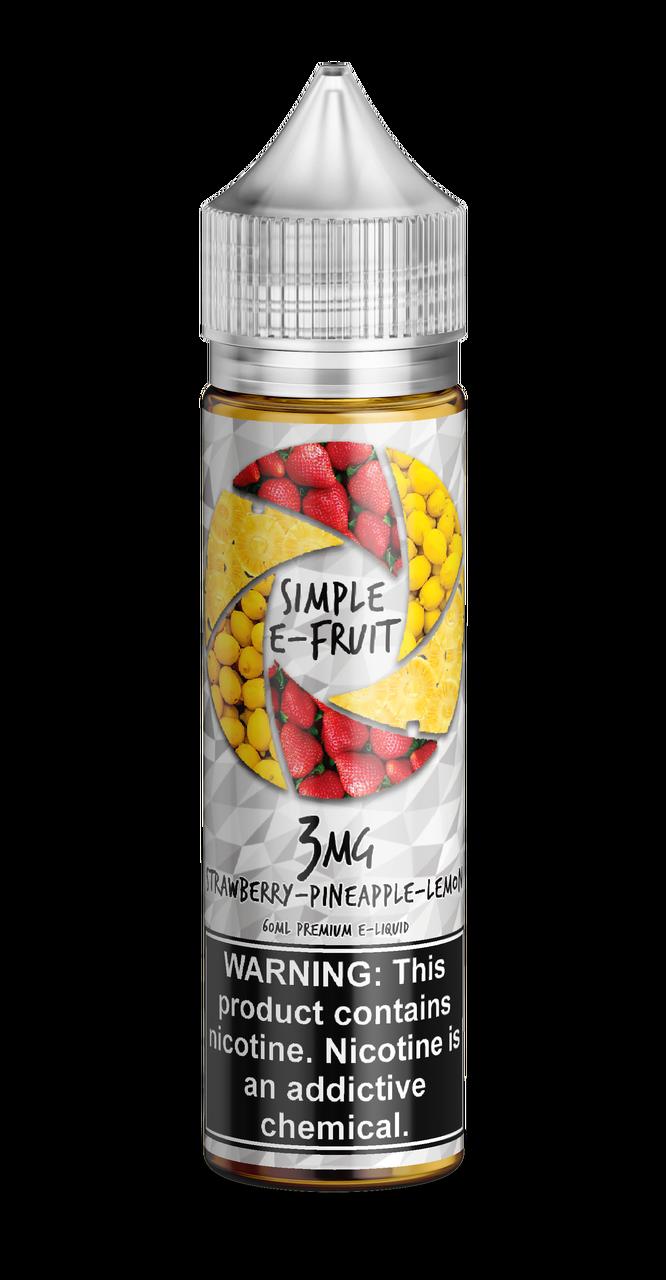 Simple E-fruit, Strawberry Pineapple Lemon