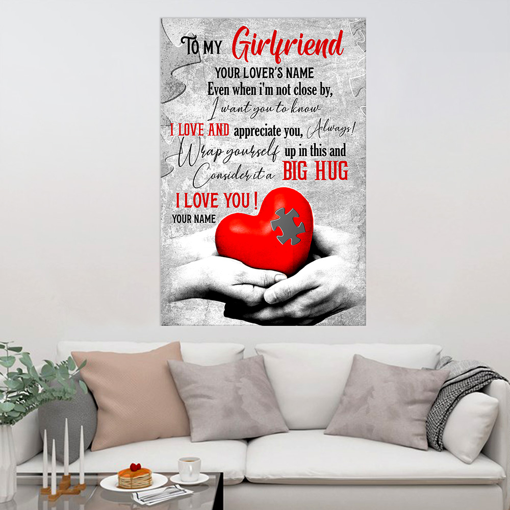 Personalized Lovely Wall Art Poster To My Girlfriend I Want You To Know I Love And Appreciate You Pattern 1 Prints Decoracion Wall Art Picture Living Room Wall