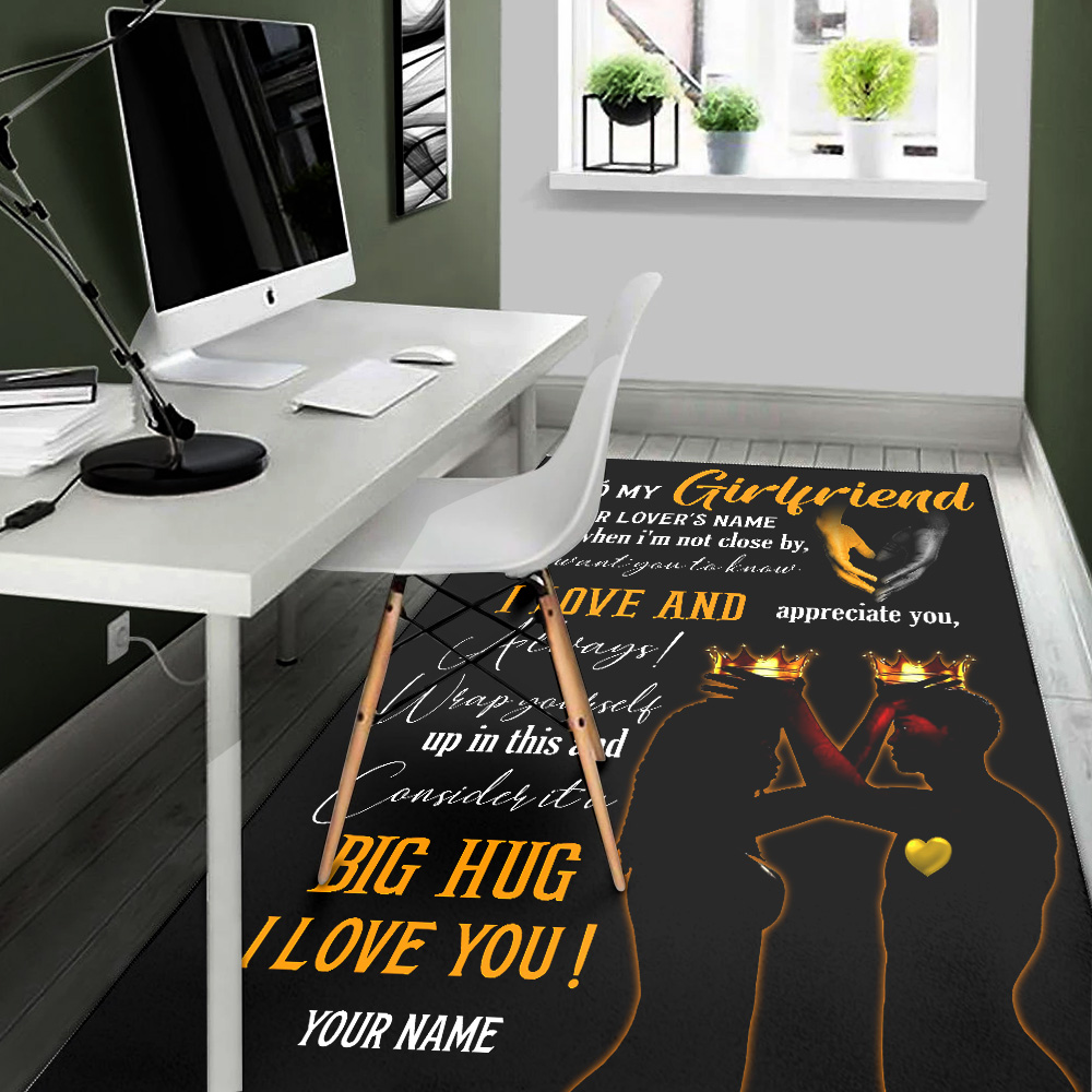 Personalized Lovely To My Girlfriend I Want You To Know I Love And Appreciate You Pattern 2 Vintage Area Rug Anti-Skid Floor Carpet For Living Room Dinning Room Bedroom Office