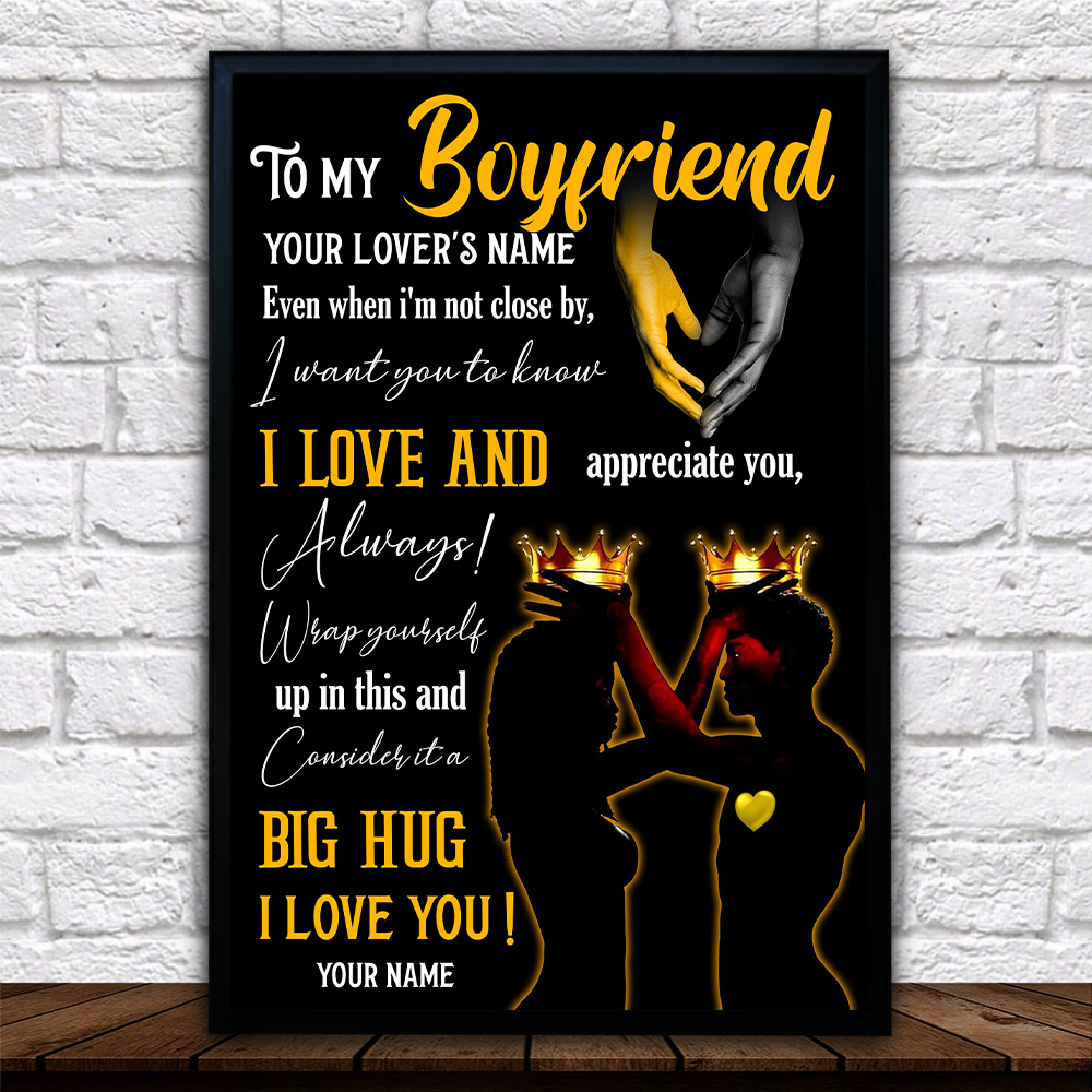 Personalized Lovely Wall Art Poster To My Boyfriend  I Want You To Know I Love And Appreciate You Pattern 2 Prints Decoracion Wall Art Picture Living Room Wall