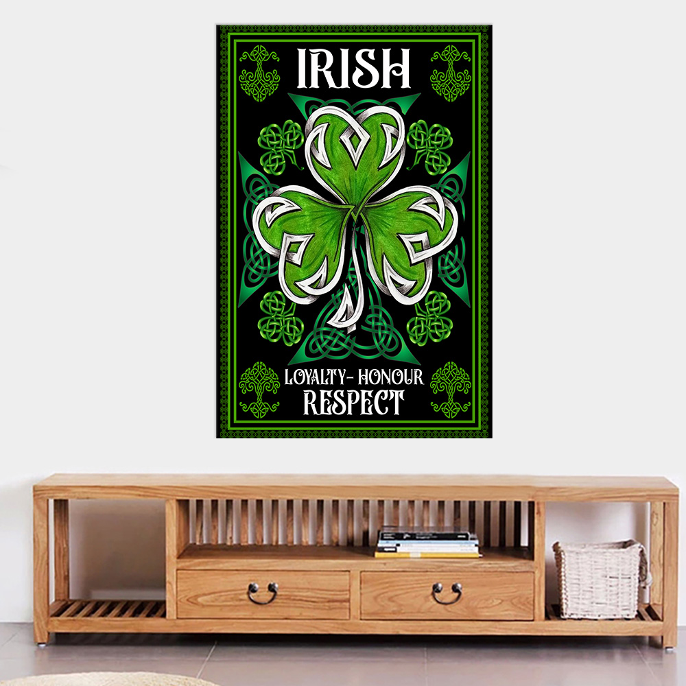Personalized Lovely Wall Art Poster St Patrick's Day Loyalty Honour Respect Pattern 1 Prints Decoracion Wall Art Picture Living Room Wall