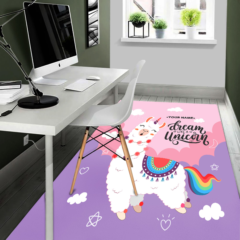 Personalized Floor Area Rugs Dream Like A Unicorn Pattern 1 Indoor Home Decor Carpets Suitable For Children Living Room Bedroom Birthday Christmas Aniversary