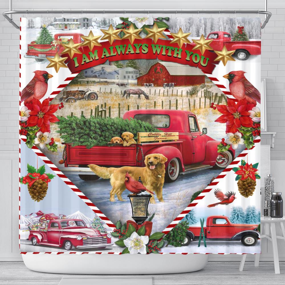 Personalized Shower Curtain 71 X 71 Inch I Am Always With You Pattern 1 Set 12 Hooks Decorative Bath Modern Bathroom Accessories Machine Washable